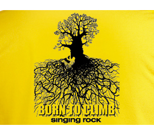 C1021YB / BAMBOO T-SHIRT - BORN TO CLIMB theme on the back