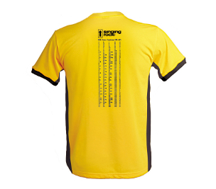 C1023YY / T-SHIRT CLIMBING GRADES - climbing grades comparison table on the back
