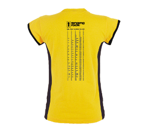 C1024YY / T-SHIRT CLIMBING GRADES - climbing grades comparison table on the back