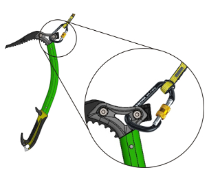 RK112 / BUNGEE - attachment to the ice axe (when glacier walking)