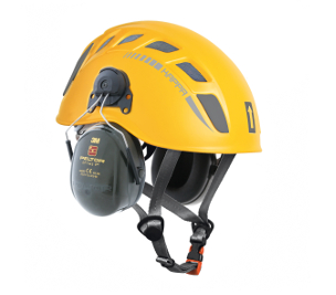 W9600 / KAPPA WORK - yellow  with Peltor ear defenders