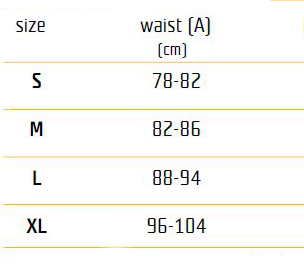 size table - pants, overall
